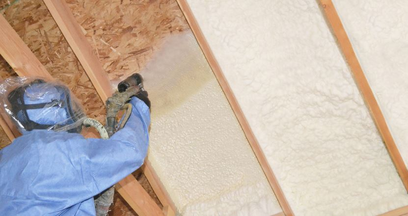 Foam Insulation application in attic